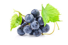 Ripe grapes with leaves Royalty Free Stock Photo