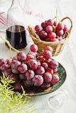 Ripe grapes and wine Royalty Free Stock Images