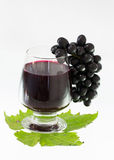 Ripe grapes and wine isolate Stock Photo