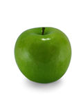 Ripe green apple. On a white background, single Stock Images