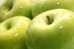 Ripe green apples Stock Image