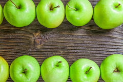 Ripe green apples Stock Image