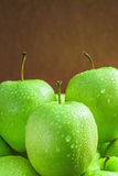 Ripe green apples Stock Photos