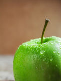 Ripe green apples. On wooden background Stock Image