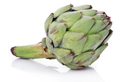 Ripe green artichoke vegetable isolated Royalty Free Stock Photo
