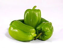 Ripe green bell peppers Stock Image