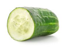 Ripe green cucumber Stock Image