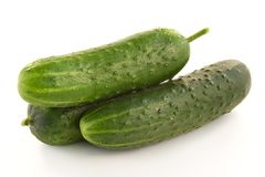 Ripe Green Cucumbers Royalty Free Stock Photography