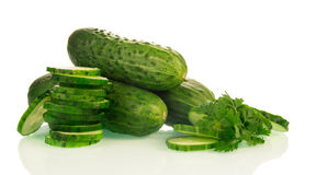 Ripe green Cucumbers Royalty Free Stock Image