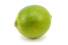 Ripe green lime. Isolated on a white background Royalty Free Stock Photo