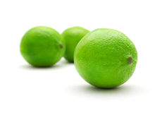 Ripe green limes Stock Image