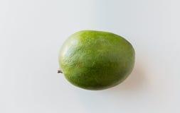 Ripe green mango over white Royalty Free Stock Photo