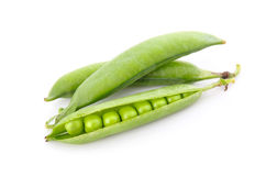 Ripe green pea vegetable isolated Stock Photos
