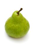 Ripe green pear. Isolated on white background stock images