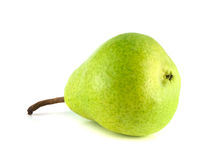 Ripe green pear on white background Royalty Free Stock Photography