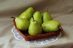Ripe green pears Royalty Free Stock Photo