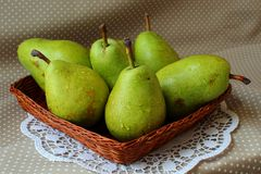 Ripe green pears Stock Photo