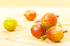 Ripe green and red gooseberries Stock Photography