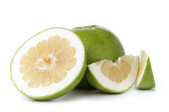 Ripe green sweetie fruit with slices Royalty Free Stock Image