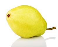 Ripe green yellow pear Royalty Free Stock Photos