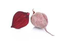 Ripe halved beet. Royalty Free Stock Photos
