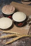 Ripe and harvested rice. Take a closer look at the rice royalty free stock photography