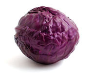 Ripe heads of cabbage. Ripe red heads of cabbage isolated on a white background Stock Image