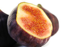 Ripe healthy fig isolated Royalty Free Stock Photos