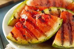 Ripe Healthy Organic Grilled Watermelon Stock Images