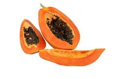 Ripe Holland Papaya. As white background Royalty Free Stock Image