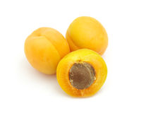 Ripe isolated apricot Royalty Free Stock Photos