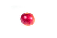 Ripe, juicy apple on a white background. Vitamin diet for weight loss. Stock Photo