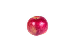 Ripe, juicy apple on a white background. Vitamin diet for weight Royalty Free Stock Photos
