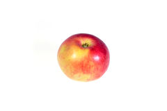 Ripe, juicy apple on a white background. Vitamin diet for weight loss. Royalty Free Stock Photo