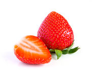 Ripe, juicy, beautiful strawberry close-up Royalty Free Stock Images