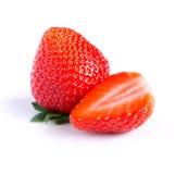 Ripe, juicy, beautiful strawberry close-up Stock Photography