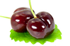 Free Ripe, Juicy Cherries,isolated On White Background Royalty Free Stock Images - 9559179