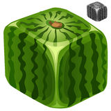 Ripe juicy delicious square watermelon Royalty Free Stock Photos