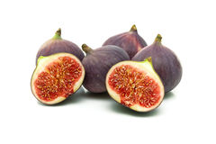 Ripe juicy figs on a white background Royalty Free Stock Photos