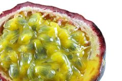 Ripe and juicy Granadilla (passion fruit) Royalty Free Stock Photos