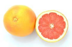 Ripe juicy grapefruit isolated on white background Stock Image