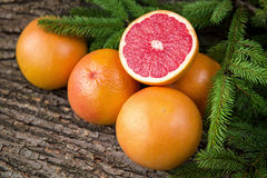 Ripe juicy grapefruit. Peeled slices of ripe juicy grapefruit Royalty Free Stock Photo