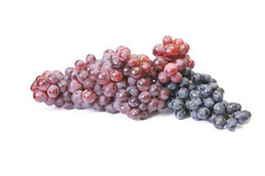 Ripe,juicy grapes on a white. Stock Photo