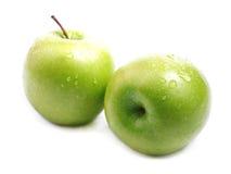 Ripe juicy green apple. Ripe juicy green apple isolated on white Stock Image