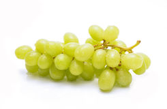 Ripe and juicy green grapes on white background Royalty Free Stock Images