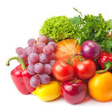 Ripe, juicy, healthy fruits and vegetables royalty free stock images