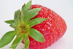 Ripe juicy and healthy strawberries on a white background close-up stock photography
