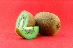 Ripe and juicy kiwi fruit and its parts Stock Photo