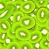 Ripe juicy kiwi seamless background. Vector card illustration. Stock Images