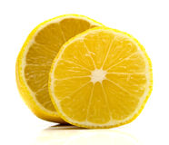 Ripe juicy lemon. On white. Isolation Royalty Free Stock Photos